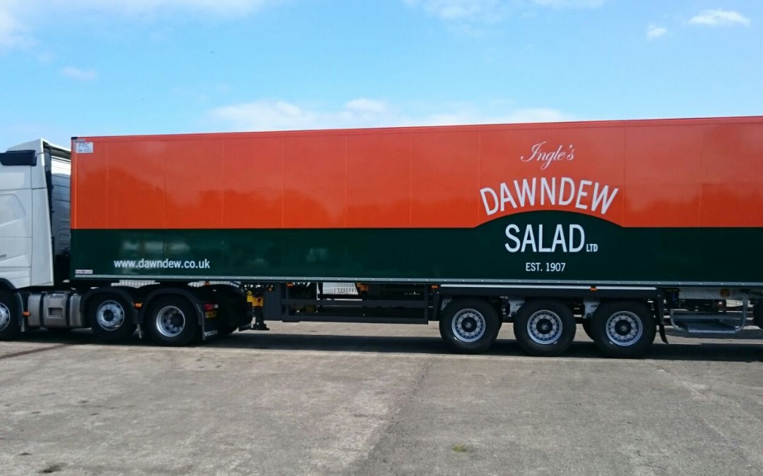 Our new Dawndew liveried trailer has arrived!